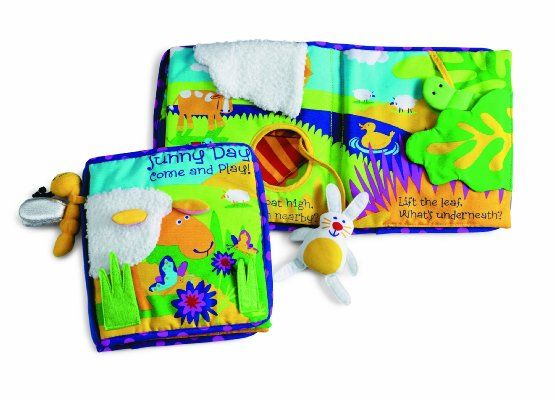 Sunny Day Manhattan Toy Soft Activity Book with Tethered Toy