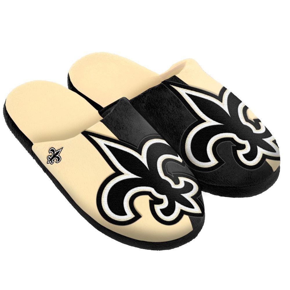 5f161f9f Pair New Orleans Saints Big Logo Slippers NEW - Split Color House ...