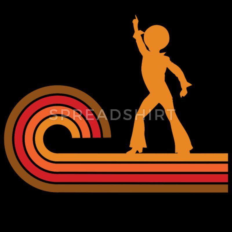 b81da1168 Dancers T-Shirts - Retro Style Disco Dancer Silhouette Disco - Unisex Poly  Cotton T-Shirt black