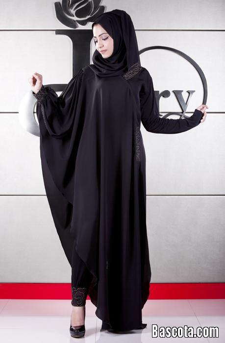 عبايات جميله عبايات سوداء سادة عبايات سادة شيك 2014 اجمل Fashion Clothes Abaya