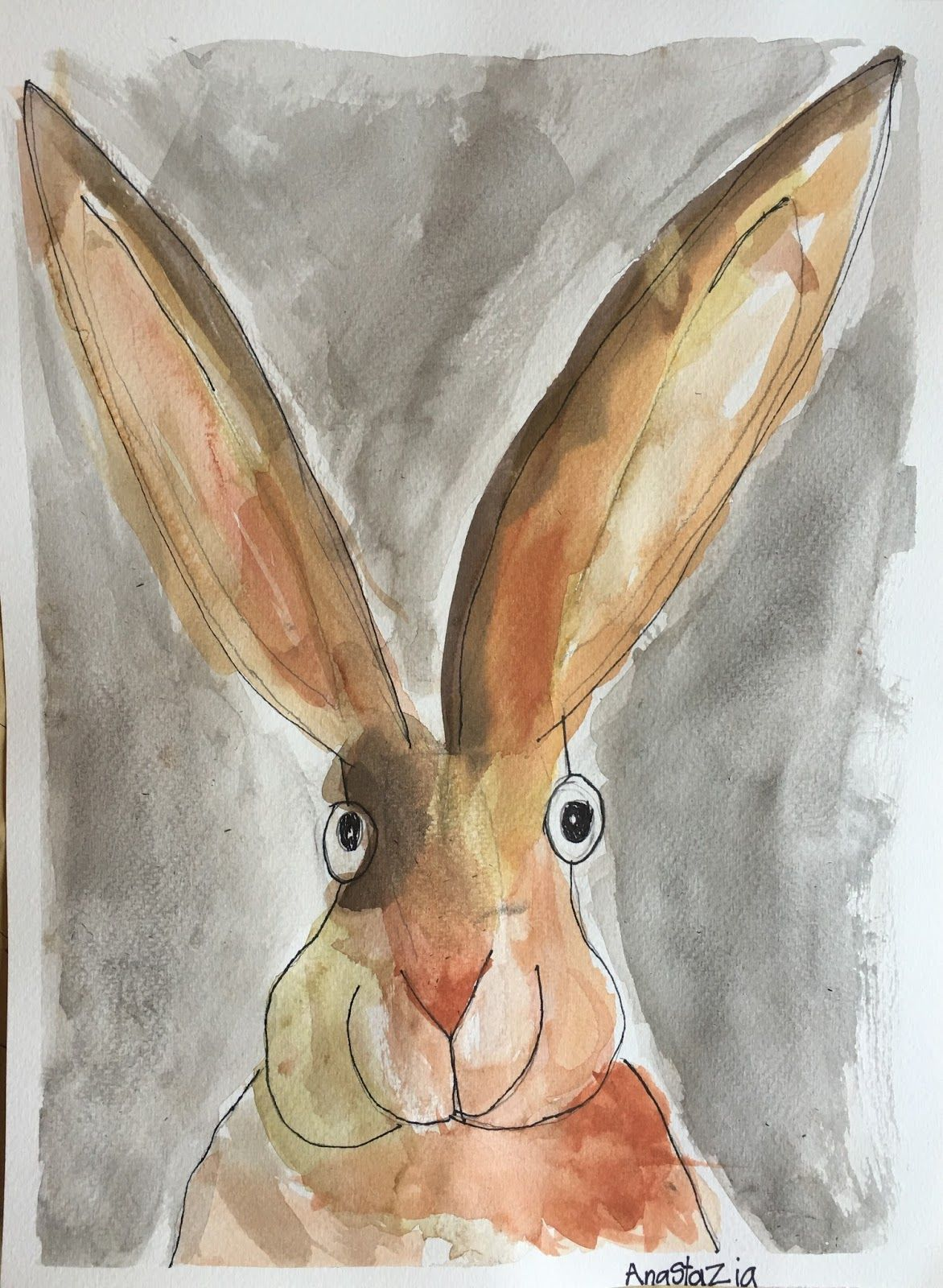 Catherine Rayner-Inspired Watercolor Rabbit Illustrations