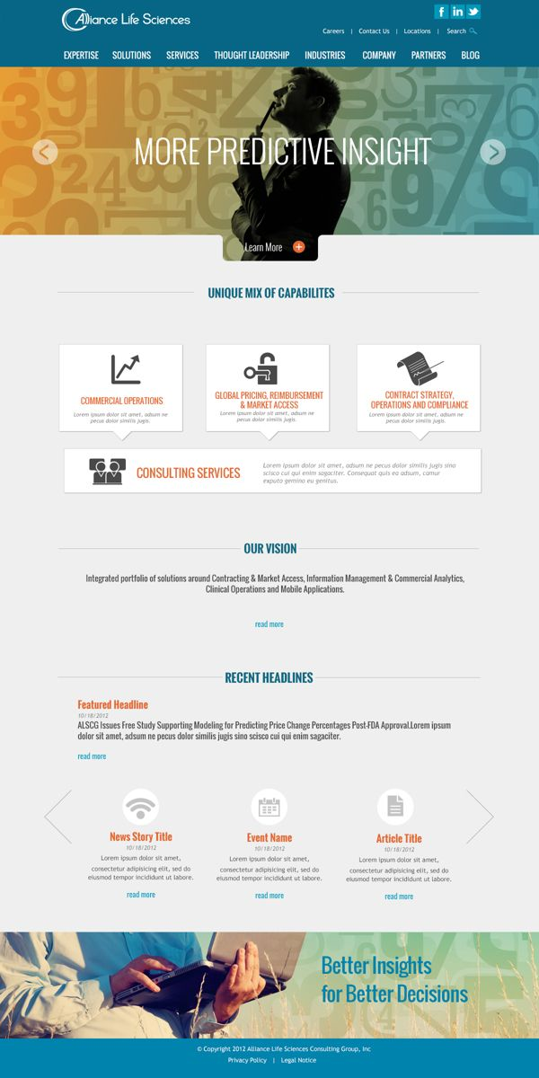 Website Home Sub Page Designs By Dan Syers Via Behance Page Design Web Inspiration Design