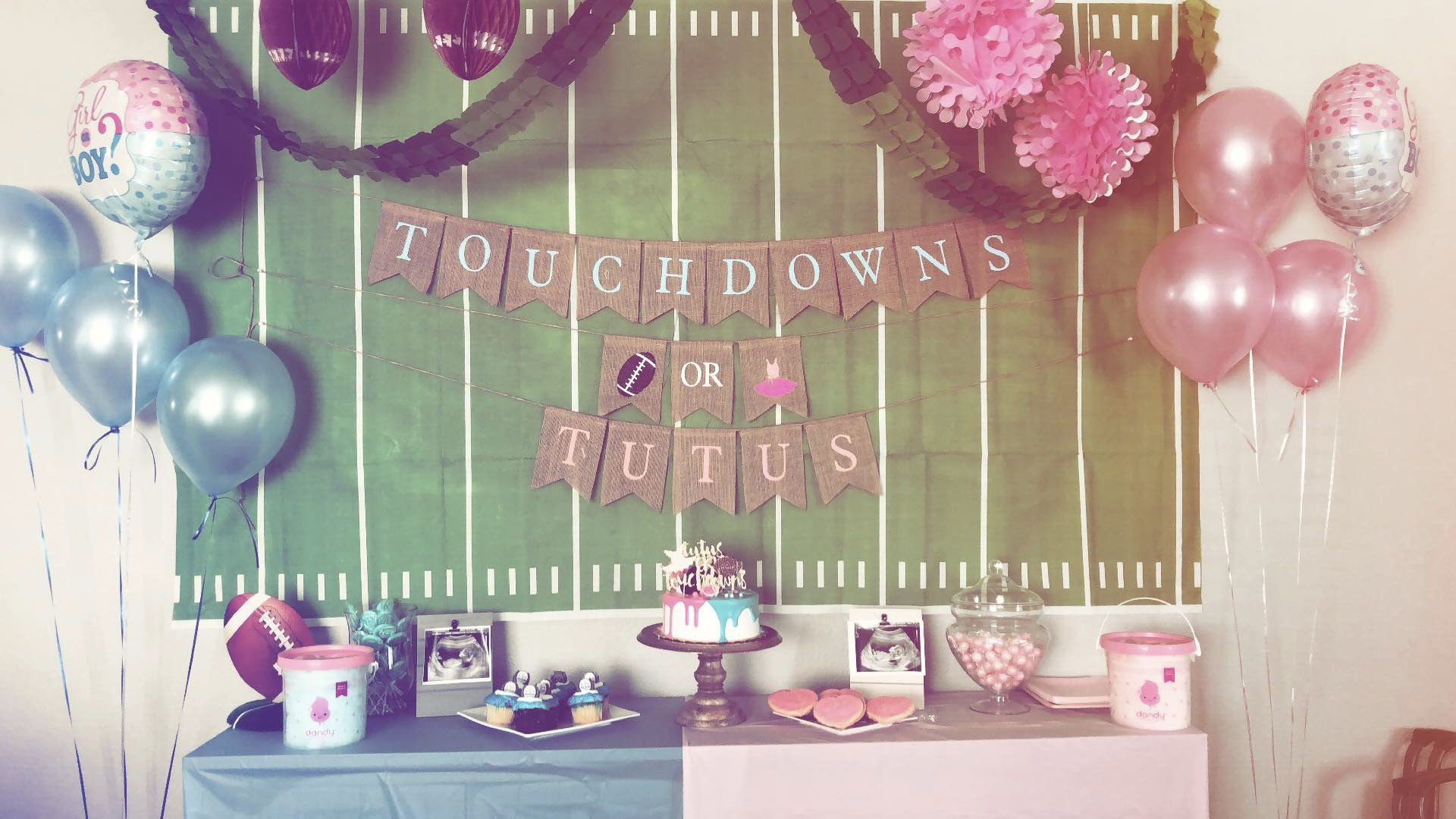 Touchdowns Or Tutus Gender Reveal Party Theme Gender Reveal Party Favors Gender Reveal Party Decorations