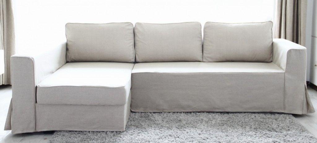 Manstad Loose Fit Slipcover In Beige Linen Custom Sofa