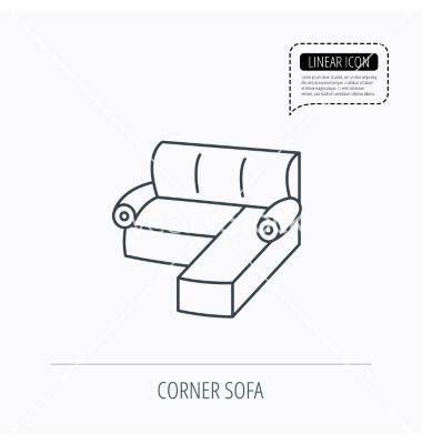 Corner Sofa Icon Comfortable Couch Sign Vector 6110004 Jpg 380 400