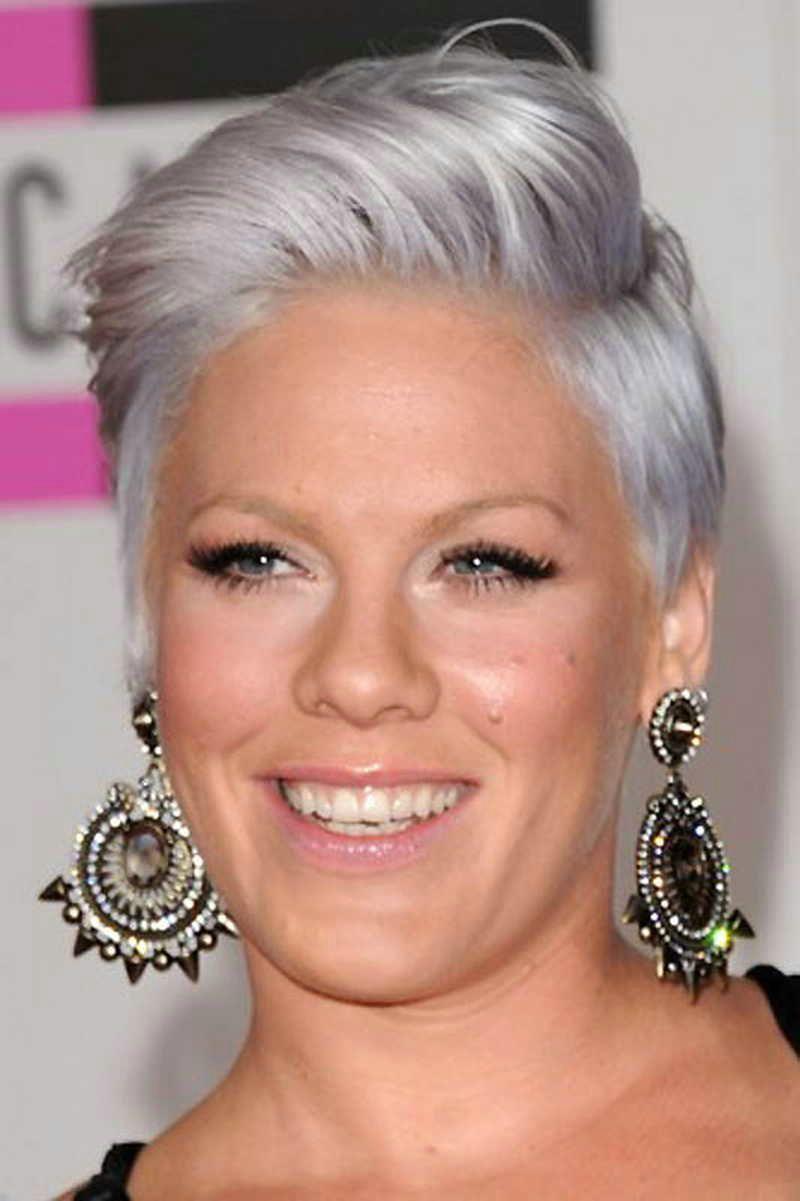 Short Greysilver Hair  Pinteres - Silver hair styles