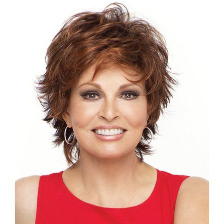Entice Wig - Barely over two ounces in weight, this face framing short shag with a collar-length back includes all over slightly textured layers for no fuss styling! Find this style & more @ thewigcompany.com