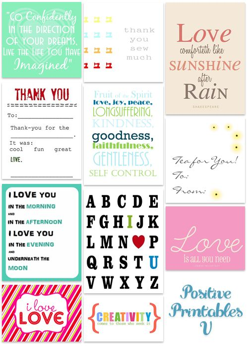 Positive Printables