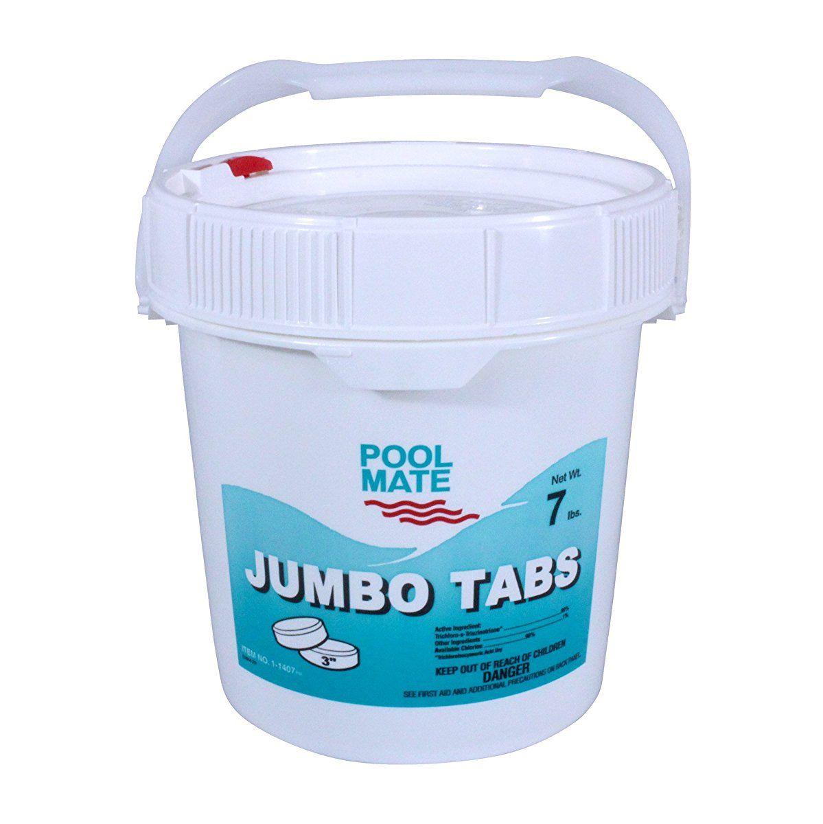 Pool Mate 11407 Jumbo 3Inch Chlorine Tablets, 7Pound