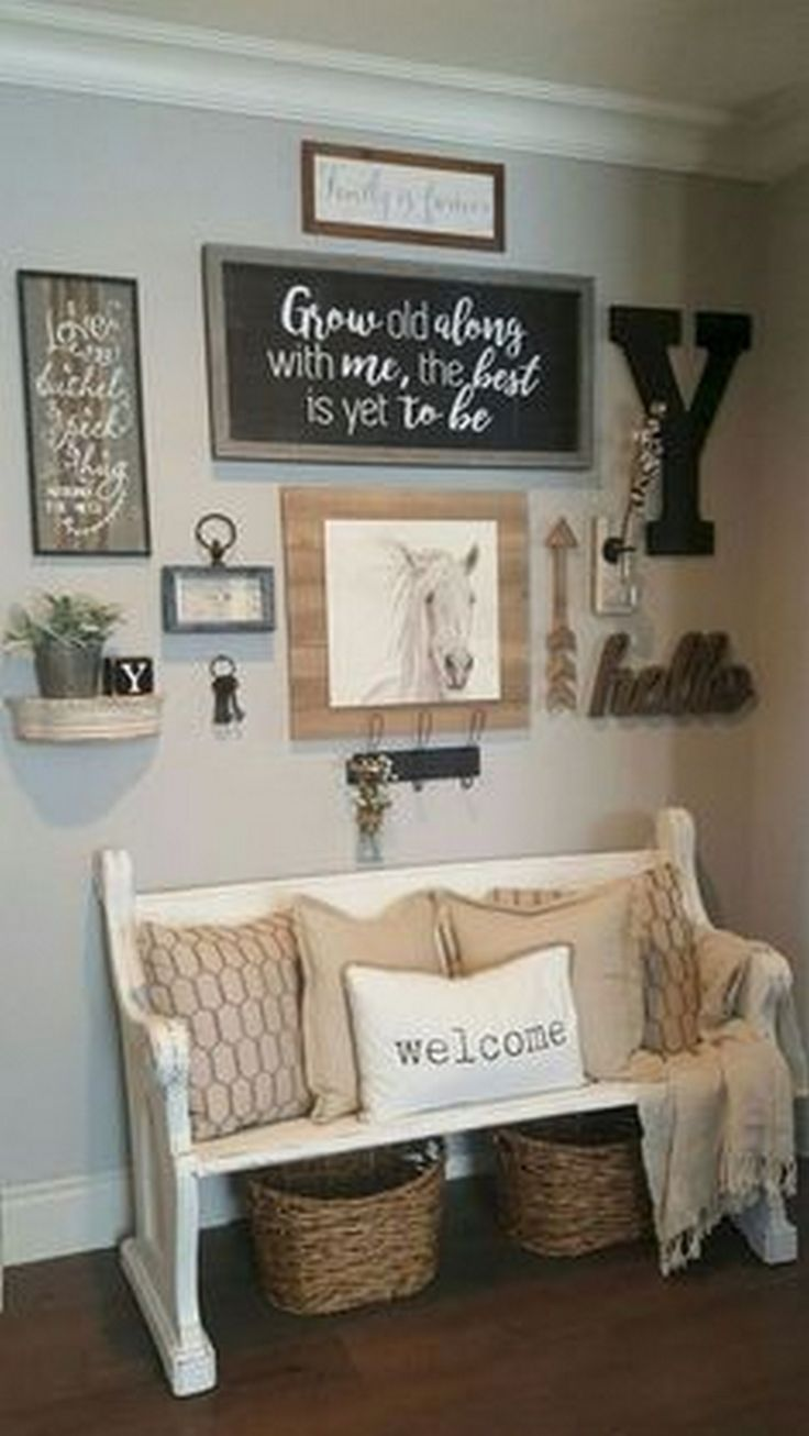 Photo of How to make such a beautiful farmhouse wall decoration in your room – #Ba …