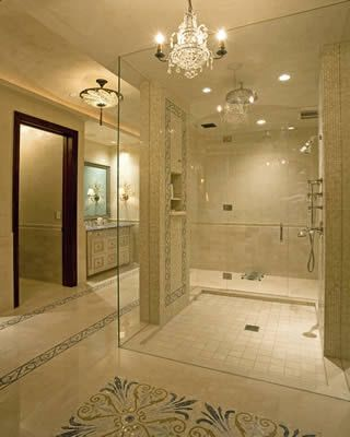 Elegant Bathrooms Designs Traditional Bathroom Curbless Shower Design Pictures Remodel