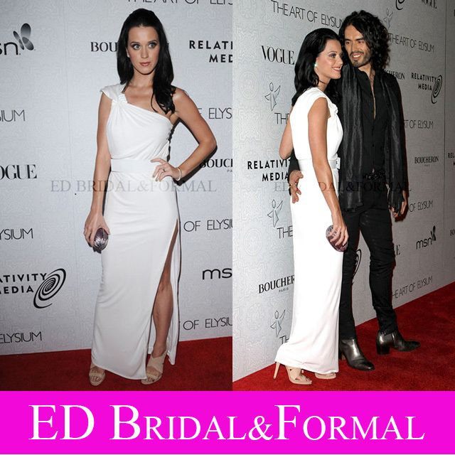 Katy Perry White Dress at Art Of Elysium Red Carpet Celebrity ...
