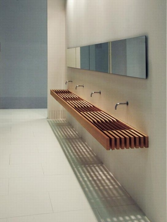 one by matteo thun basin wood bathroom bad pinterest moderne badezimmer badezimmer. Black Bedroom Furniture Sets. Home Design Ideas