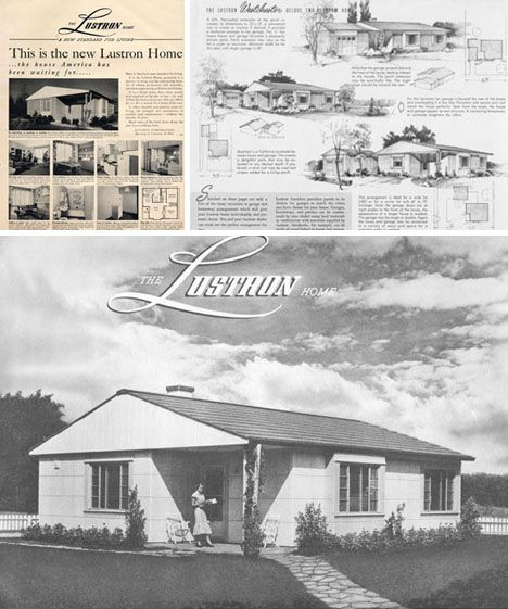 Lustron prefab | historic home kits | Post war housing | Factory ...