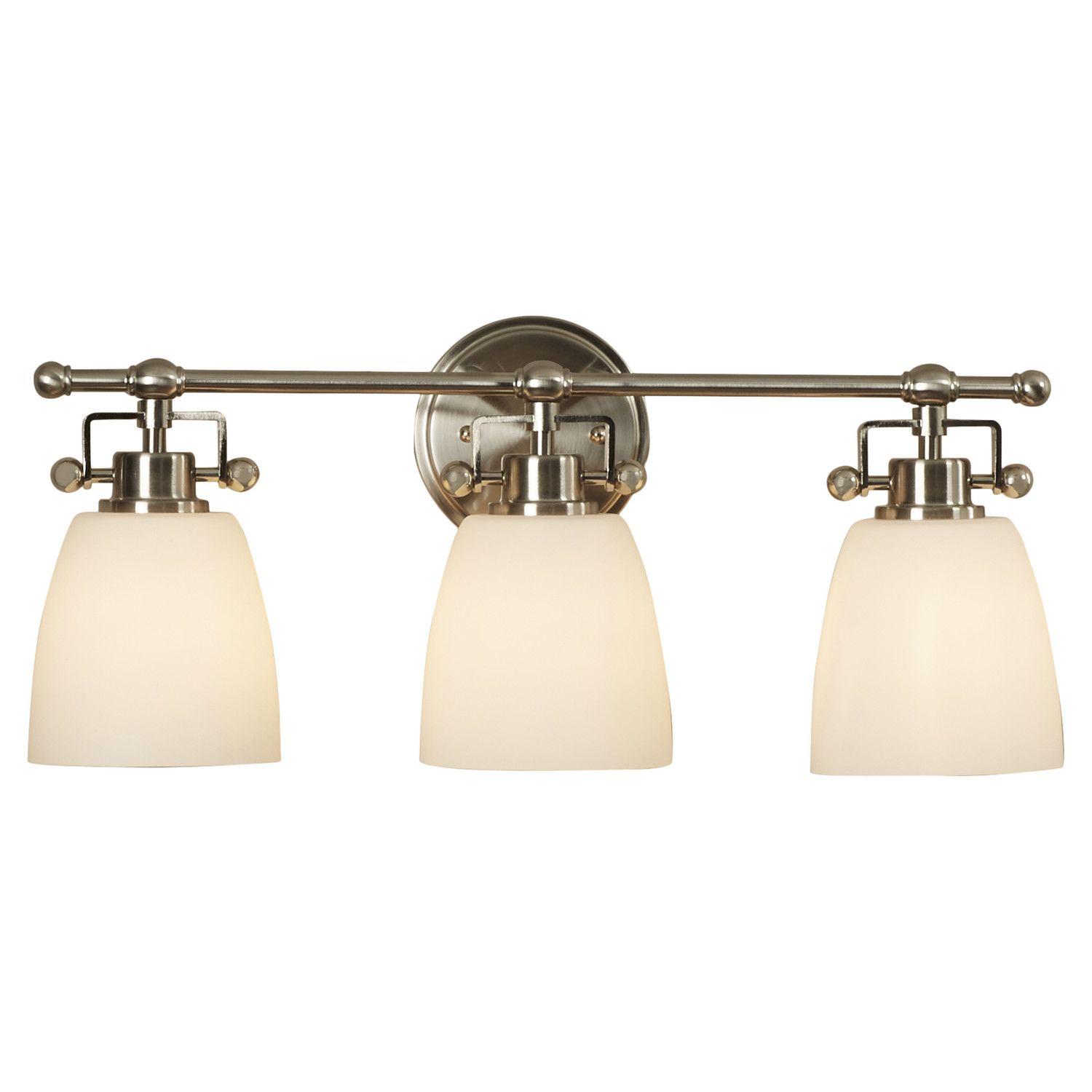 Quoizel bwr8603 bower 3 light 22 wide reversible bathroom vanity light with opa brushed nickel indoor lighting bathroom fixtures vanity li