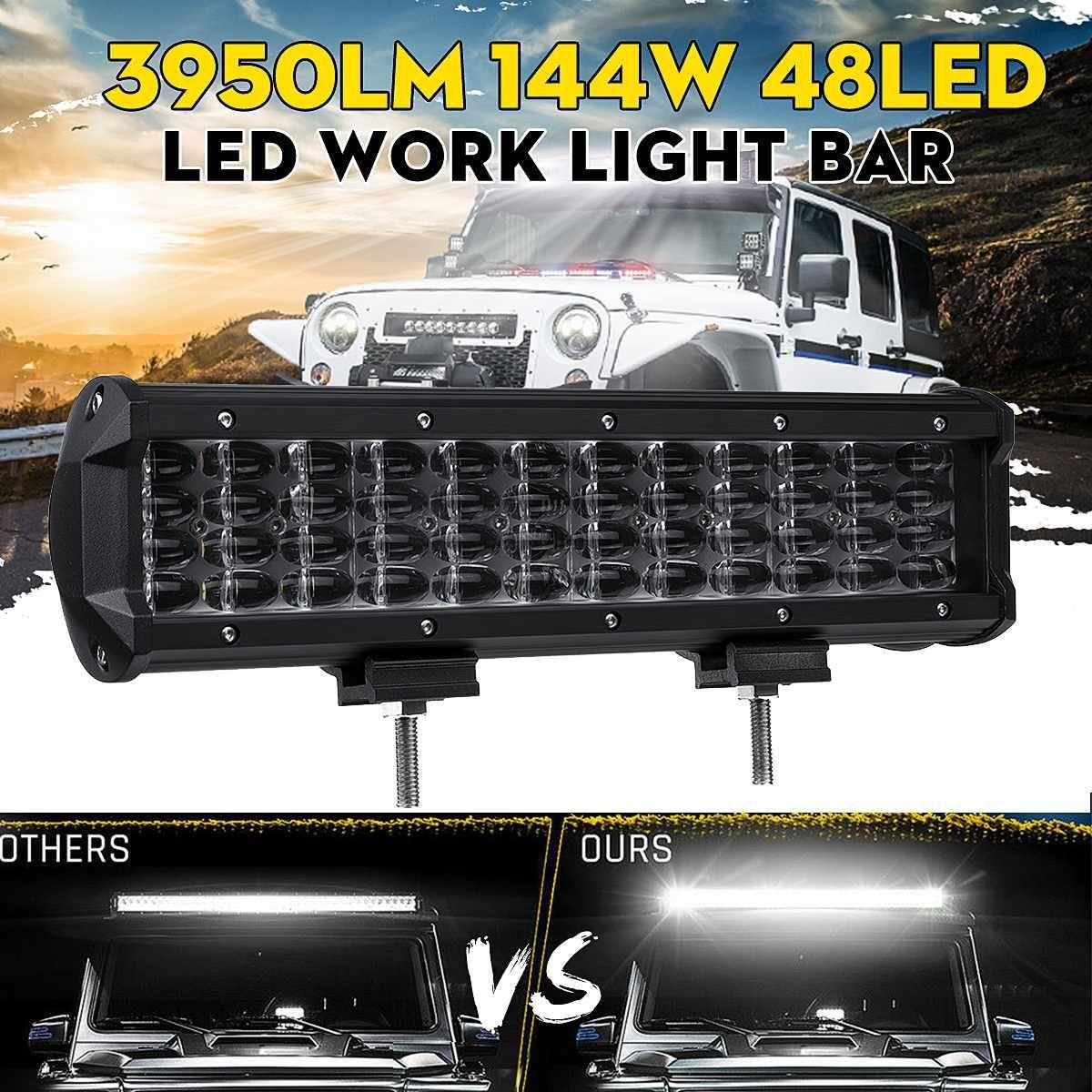 12v 24v 12 Led Car Led Work Light Bar Spot Driving Lamp 4x12 Ip67 For Jeep Driving Offroad Boat Suv Atv Utv Tractor Tru Led Work Light Bar Lighting Work Lights