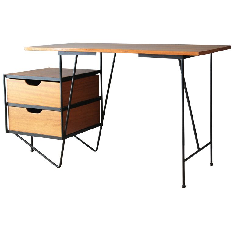 1stdibs mid century modern vista of california desk - Mid Century Modern Furniture Desk
