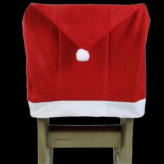 Dining Chair Covers Easter | Fun Christmas Holiday SANTA CLAUS HAT CAP CHAIR  BACK COVER Decorations