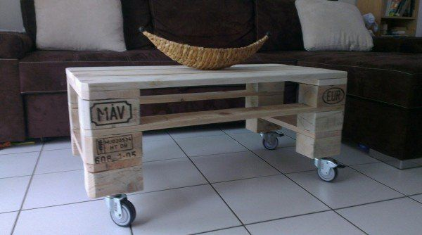 pallet coffee table table basse de salon en palette recycl e pallets pallet furniture and. Black Bedroom Furniture Sets. Home Design Ideas
