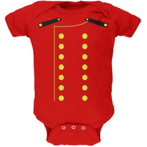 dcb722d1254b Halloween Hotel Bellhop Costume Red Soft Baby One Piece - 12-18 ...