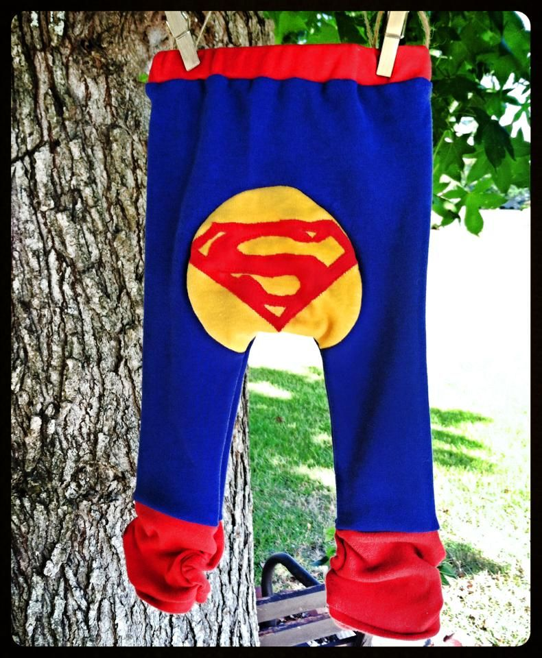 "handmade monkey pants by hapa's mama's ""superman"""