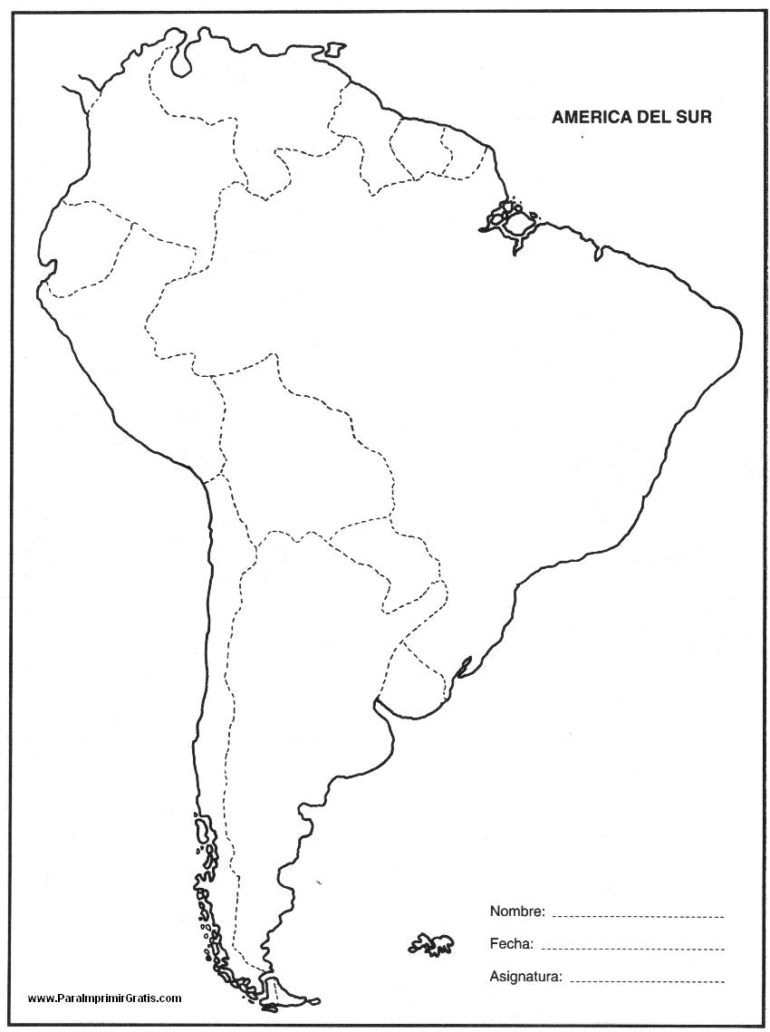 Mapa De Am Rica Del Sur Para Imprimir Gratis And America Politico ...