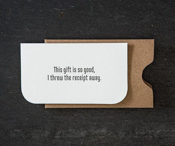 mini: receipt. letterpress card. #725