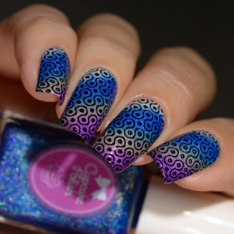 Cupcake Polish Mod About You Gradient and Nail Art Stamping Lina ...