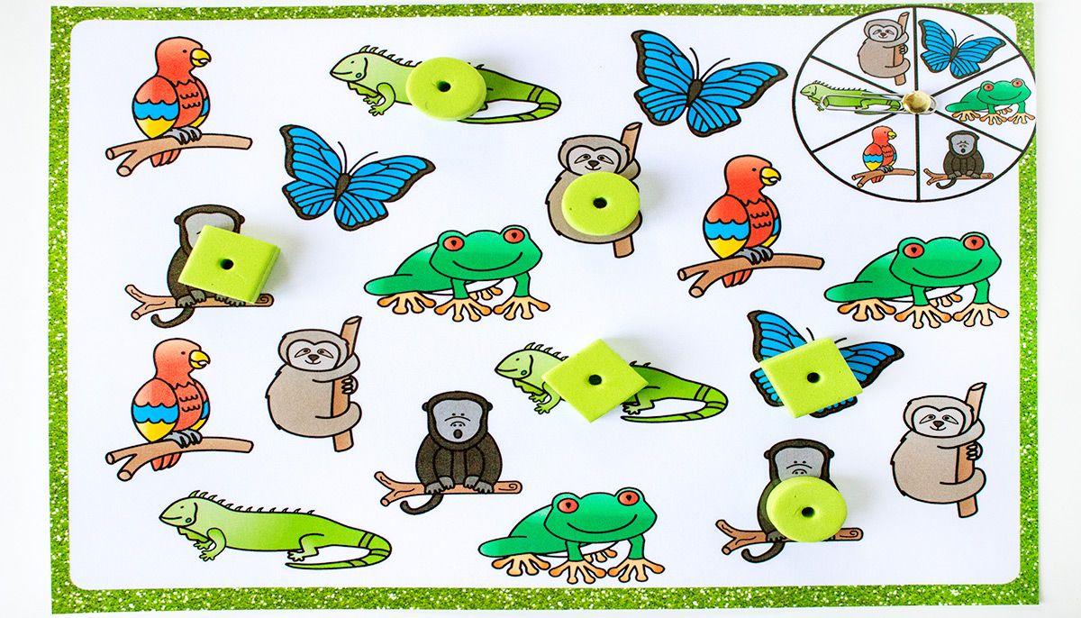 Rainforest Matching Games for Preschoolers Preschool