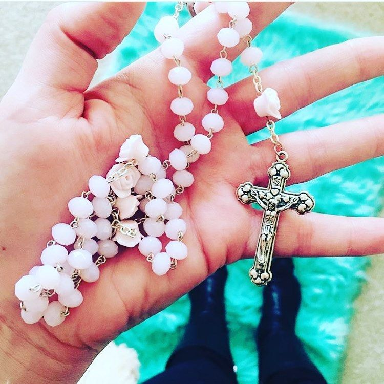 Portuguese Glass Rosary. Jewelry for sale! Comment to purchase - WE SHIP or visit our new online store!!!... #rosaryjewelry