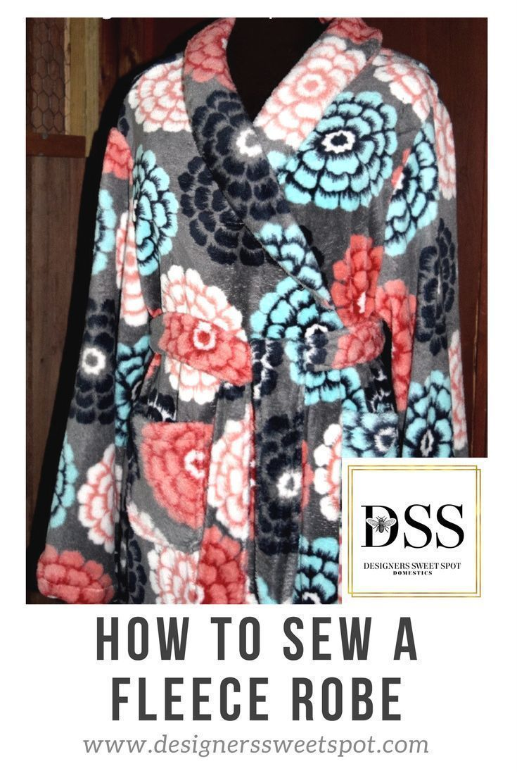 How to sew a fleece robe robe sewing projects and craft