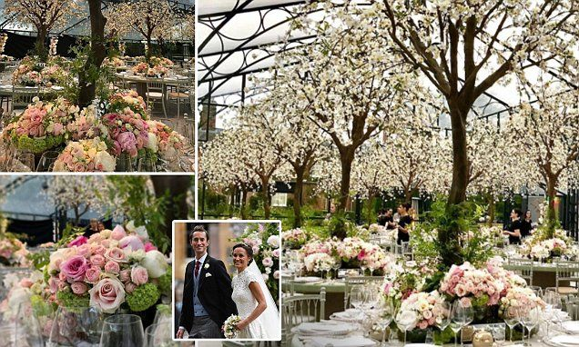 Pippa Middleton Wedding Marquee.First Photos Of Pippa S Flowers In 100 000 Glass Marquee Flowers