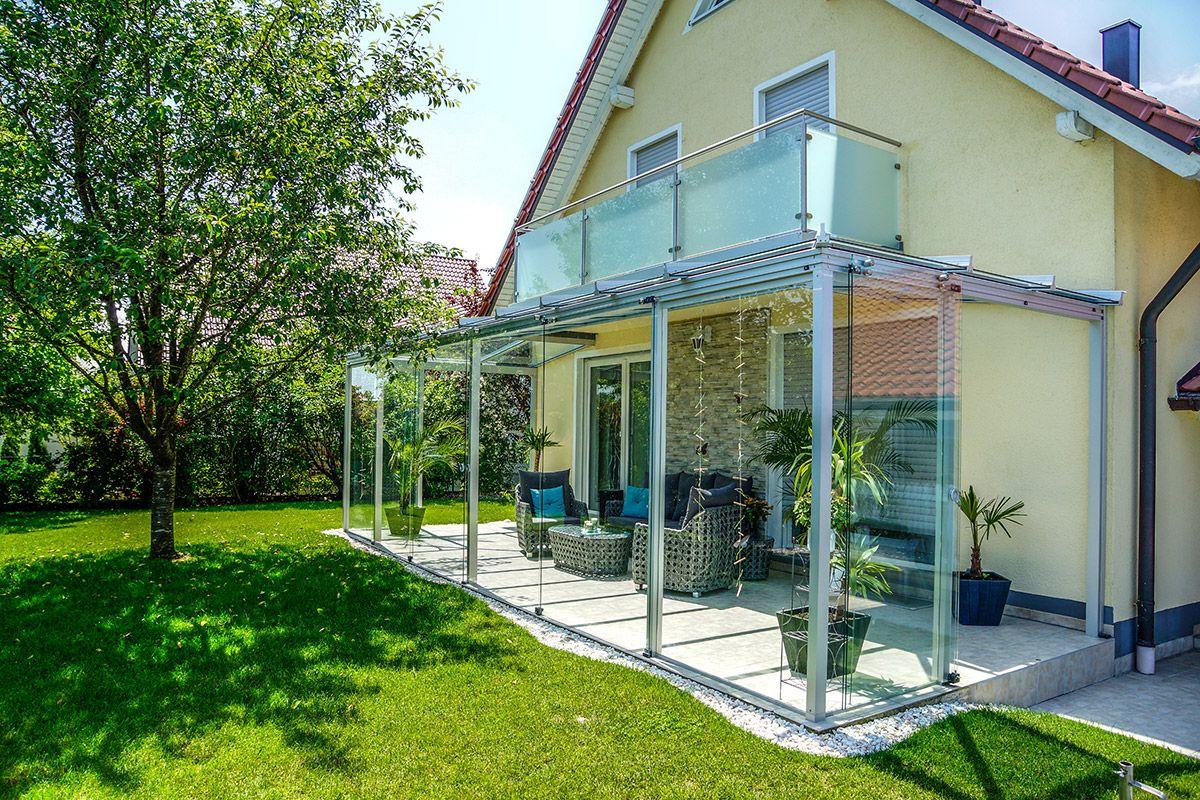 Kaltwintergarten Aus Alu Und Glas Mit Schiebeturen Ohne