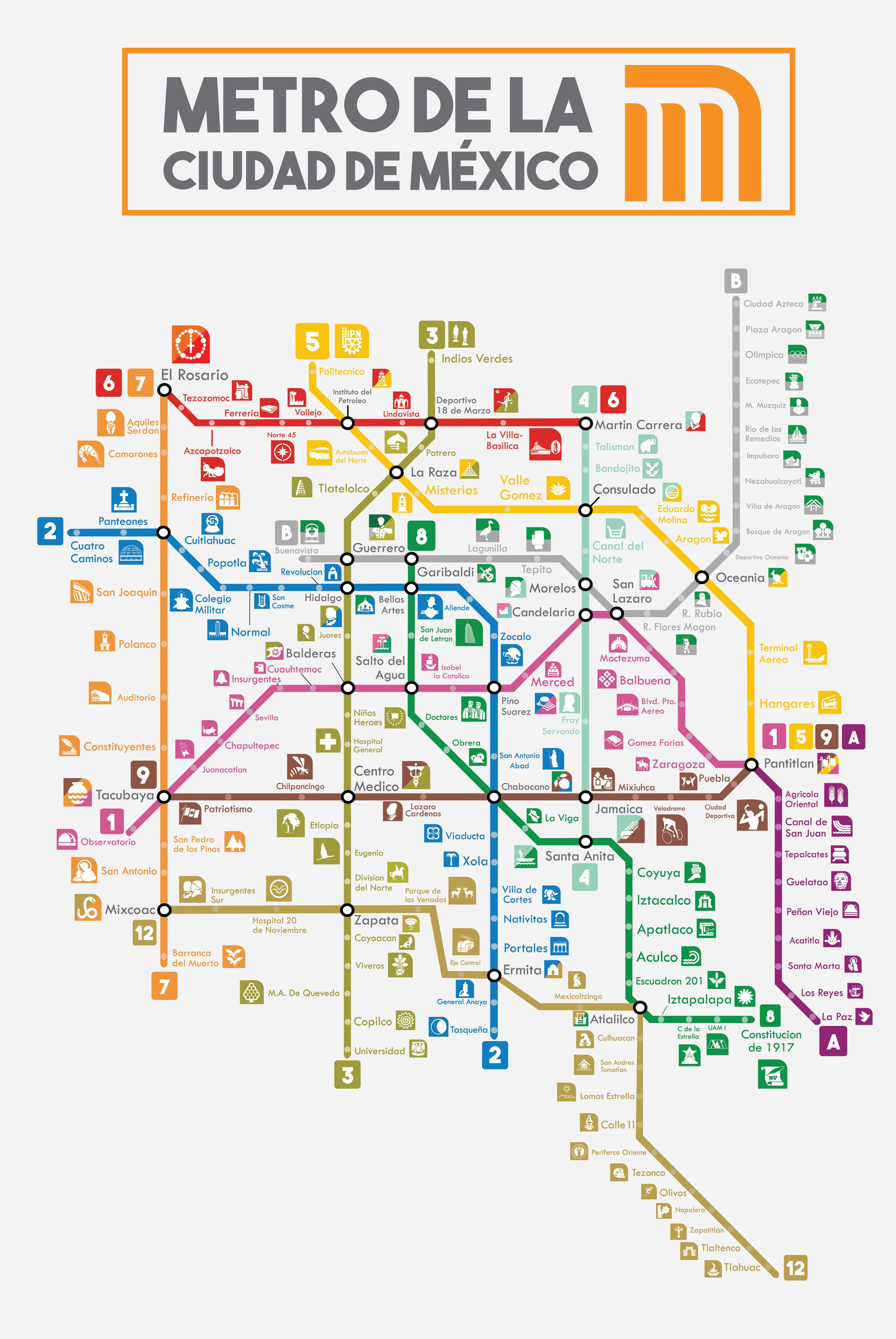 Subway Map Mexico City.Mexico City Subway Map Buttered Kat In 2020 Subway Map Mexico City Map Mexico City