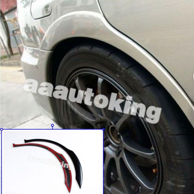 Black Wheel Side Arch Cover Trims Fender Flares Fit For Subaru Impreza STI 02-09 #AAAutoking