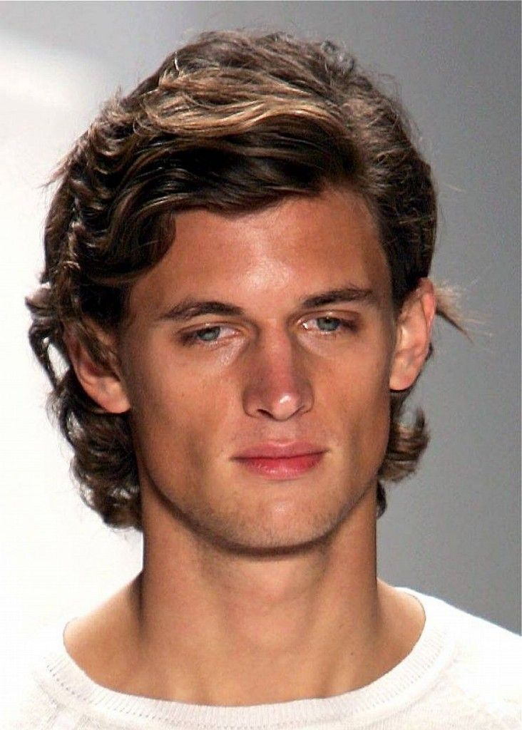Medium Length Hairstyles For Naturally Wavy Hair : Men haircuts for curly hair pinterest more shoulder