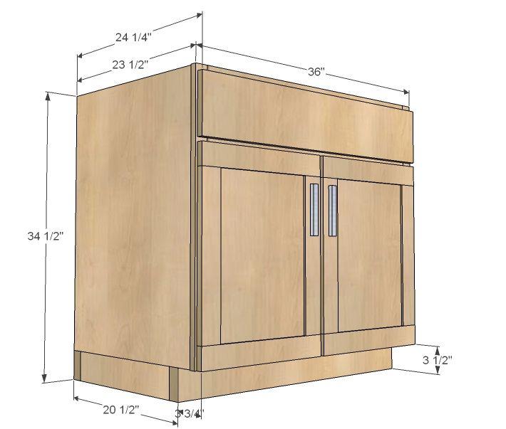 Kitchen Cabinet Sink Base 36 Full Overlay Face Frame Diy Kitchen
