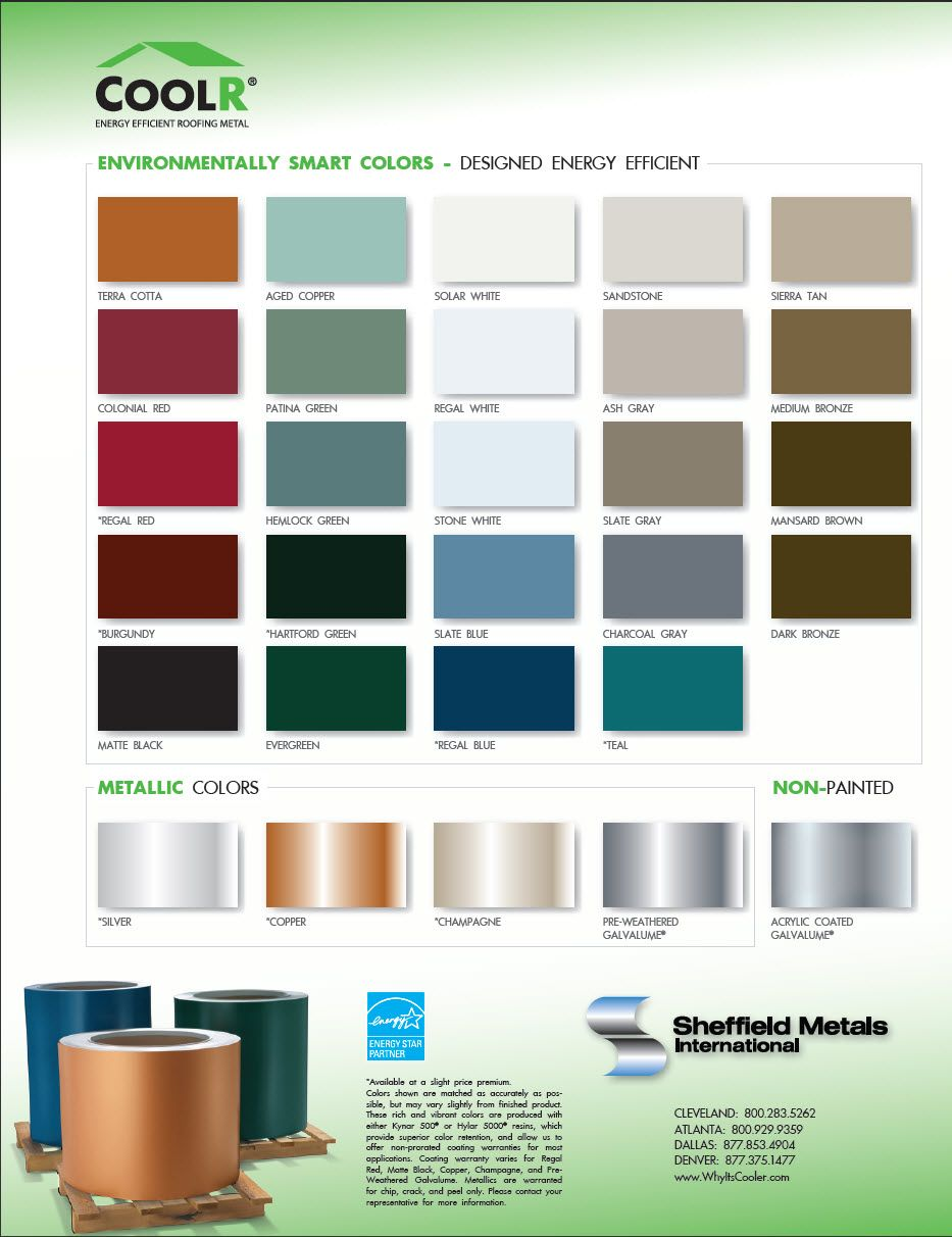 Best Metal Roofing Color Chart Metal Roof Roofing Roof Colors 400 x 300