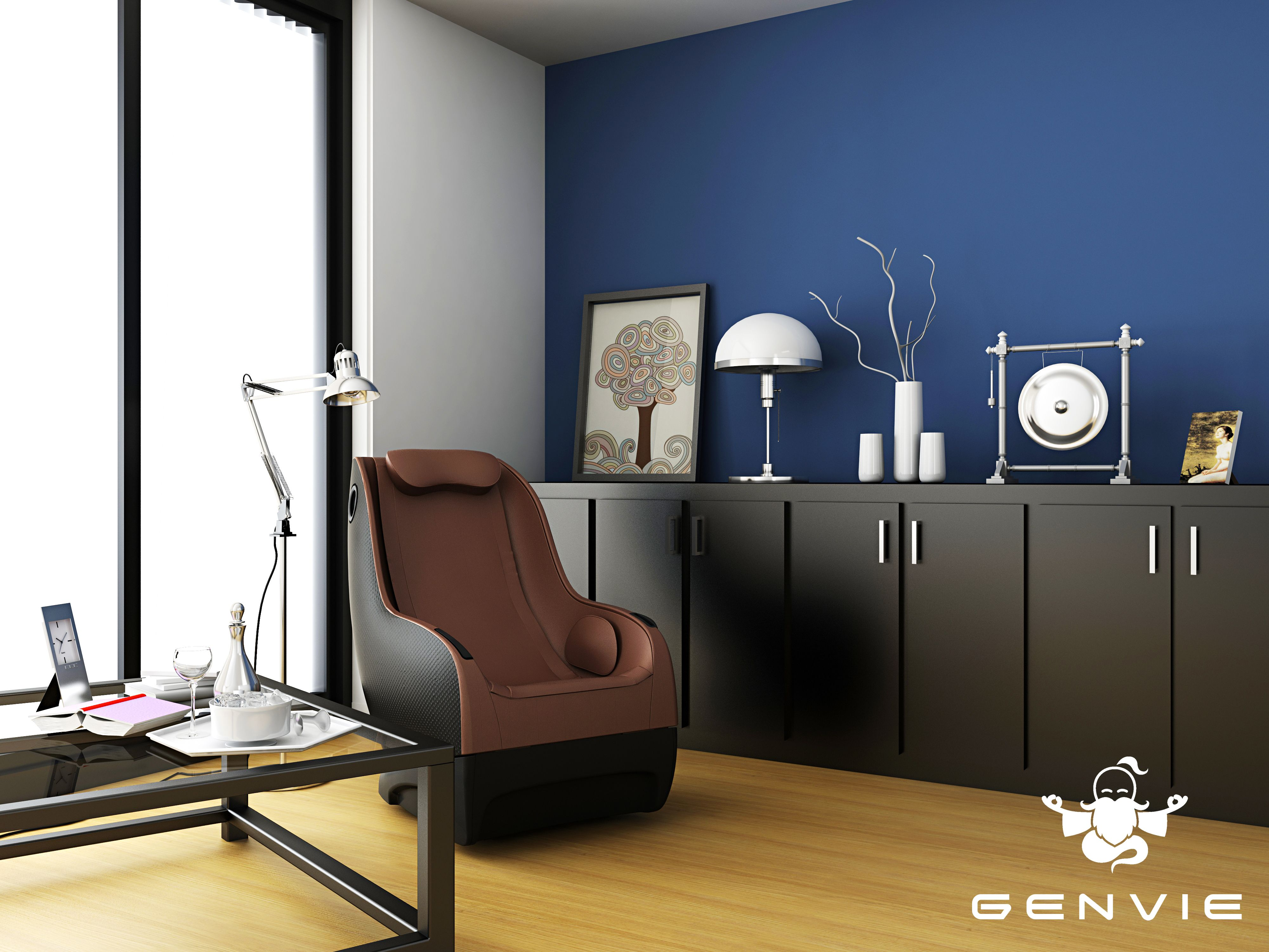 Cosy Brown Study Room (With images) Sofa design, Massage