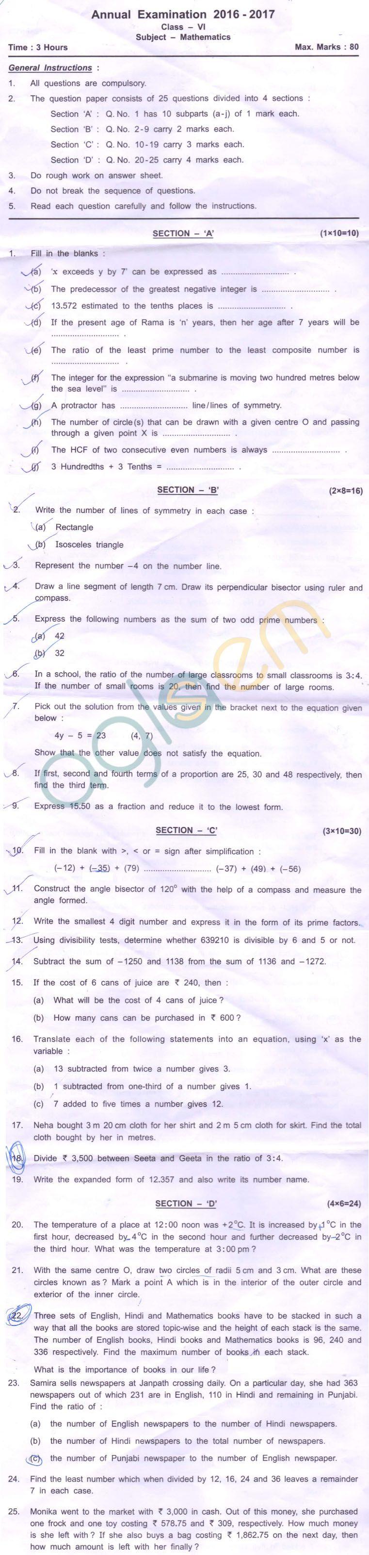 Cbse Class 6 Sa2 Question Paper For Math Aglasem Schools Question Paper This Or That Questions Math [ 3204 x 761 Pixel ]