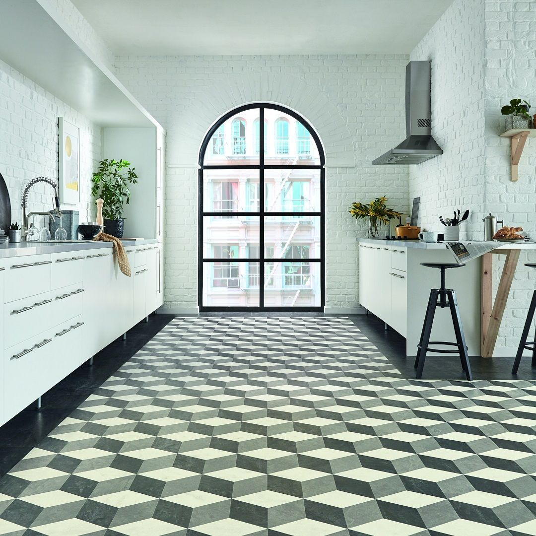 clean lines and modern styling karndean kaleidoscope cubix flooring rh pinterest com