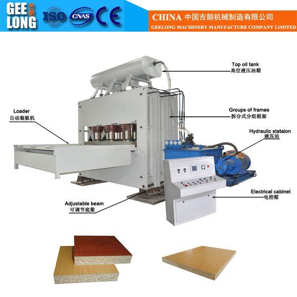 1200t Plywood Board Formica Melamine Hot Press Lamination Machine