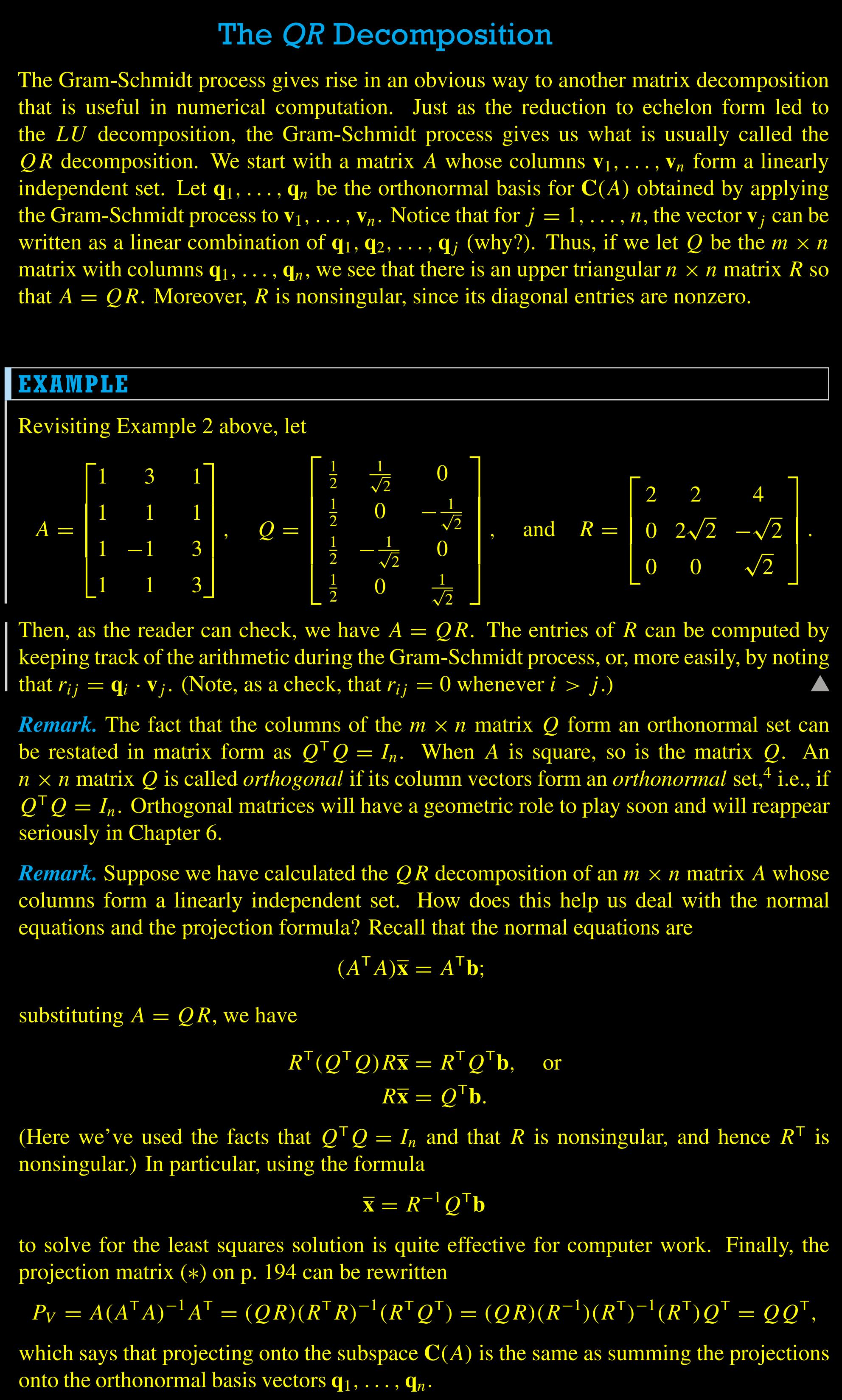 The matrix qr decomposition smart people stuff pinterest the matrix qr decomposition biocorpaavc