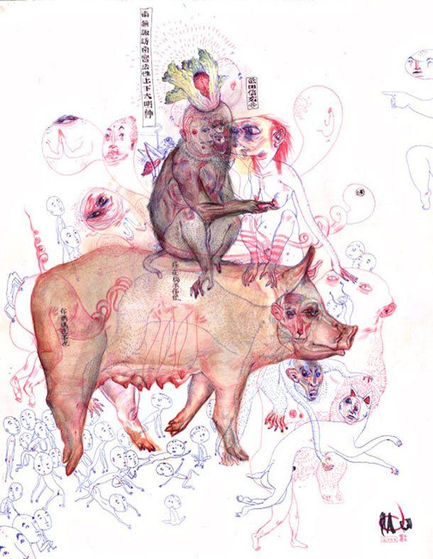 Sketchbook works and paintings from Mu Pan @ Juxtapoz