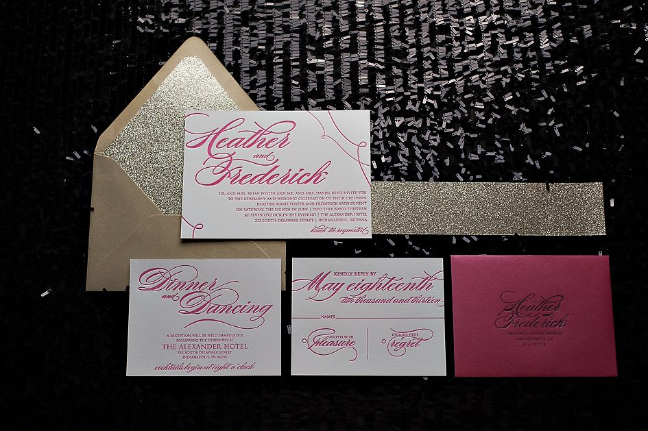 hot pink, gold, summer wedding trends, 2013 wedding trends ...