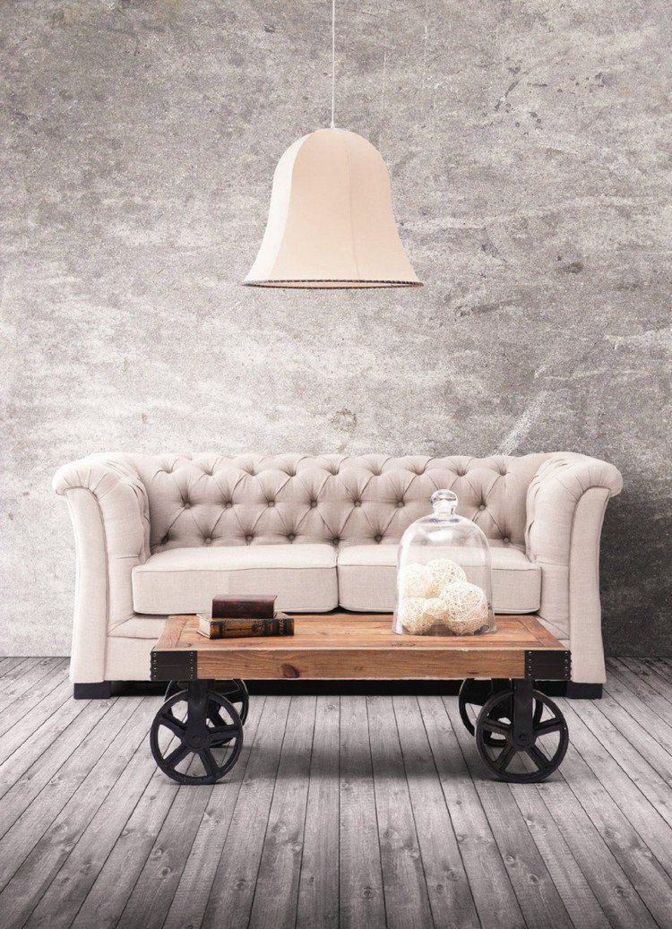 table basse palette bois pour pimper le salon moderne - Table Salon Moderne Design