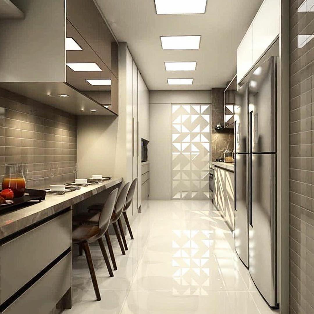 Cozinha planejada retangular