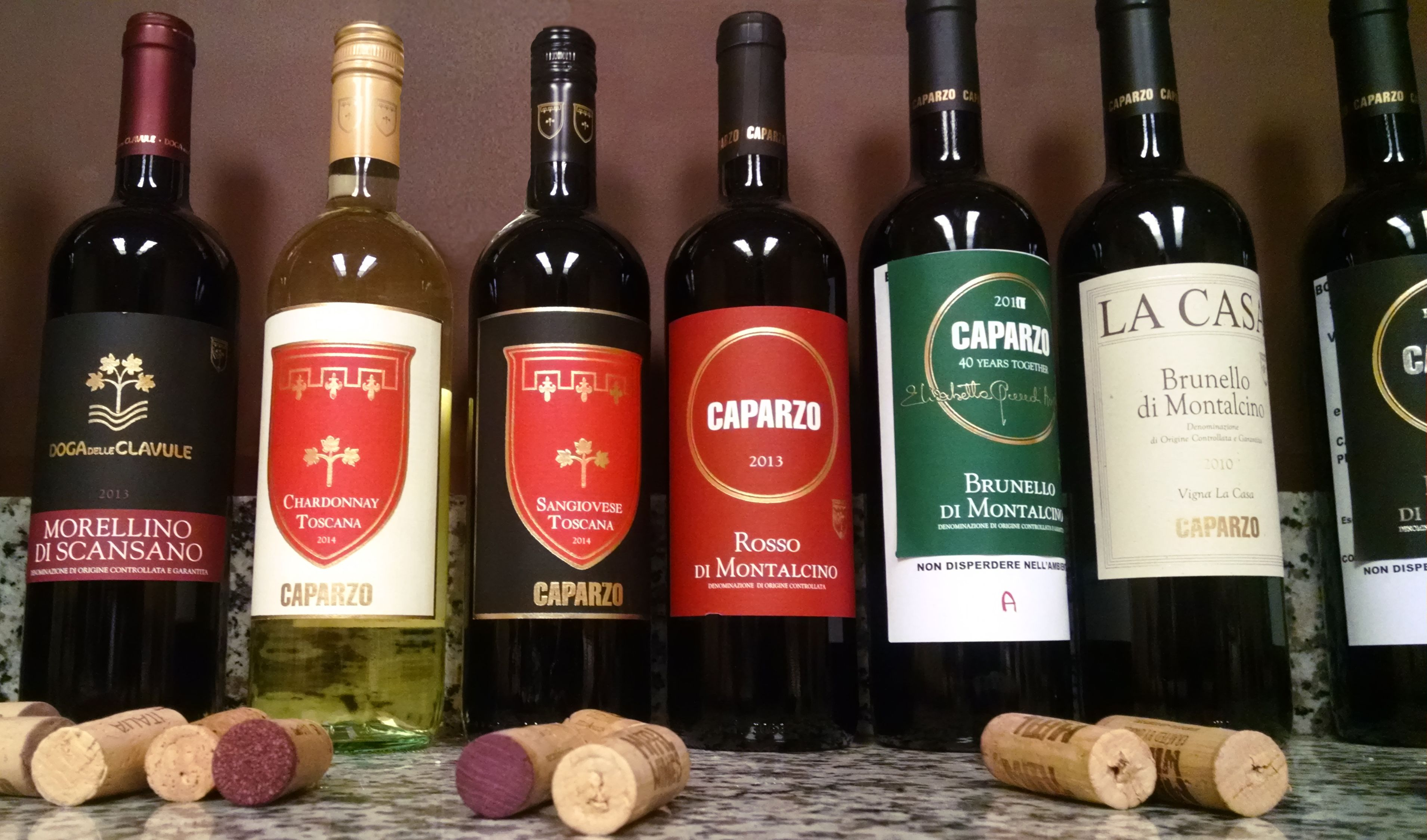 Caparzo Lineup For Tasting It S A Tough Job But Someone S Got To Do It Italy Wine Chianti Wine Wine Tasting