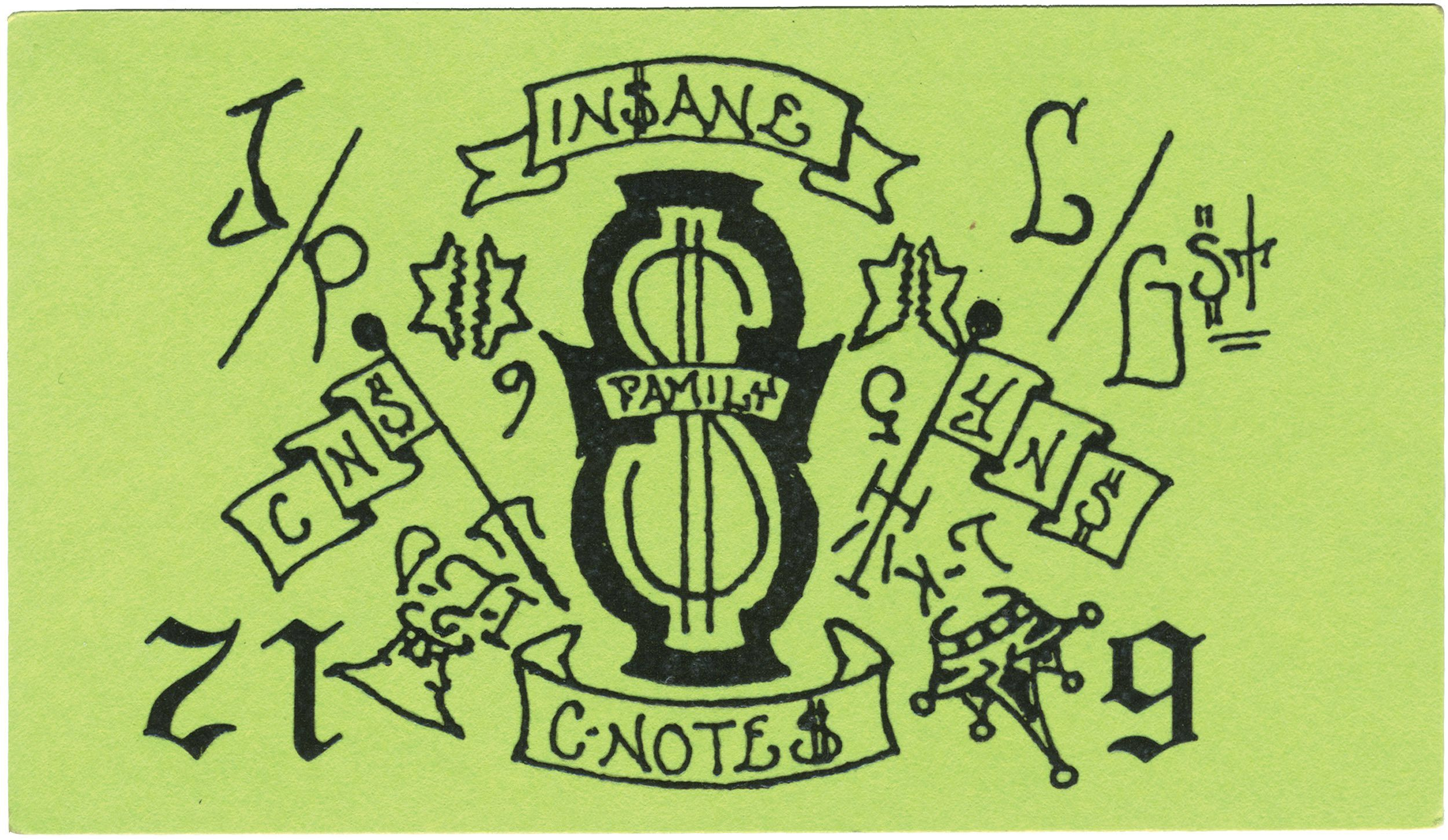 masters in crime killers of slime chicago gang business cards