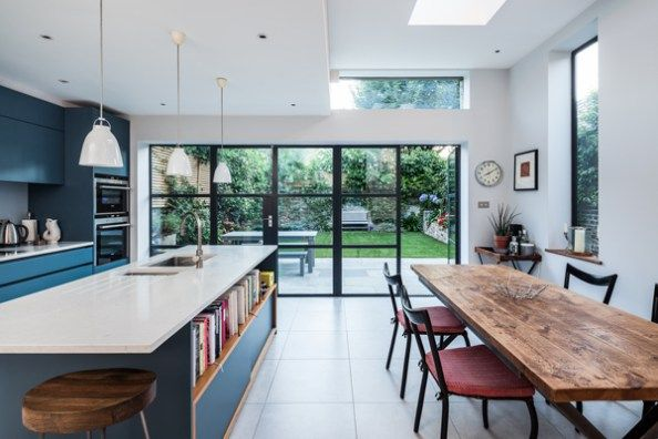 Aua has remodelled an end of terraced house to provide  greater and more free owing accommodation for family the design brief was one simplicity also rh pinterest